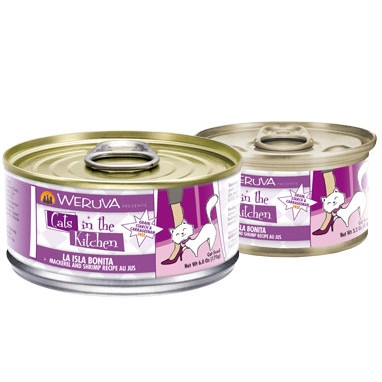 Weruva La Isla Bonita - Mackerel & Shrimp Canned Cat Food, 3.2 oz.