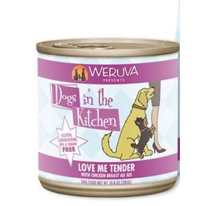 Dogs in the Kitchen Love Me Tender Au Jus Canned Dog Food, 10 oz.