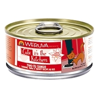 Cats in the Kitchen Two Tu Tango Sardine, Tuna & Turkey Recipe Au Jus Canned Cat Food, 3.2 oz.
