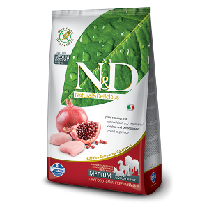 N&D Grain-Free Canine Chicken & Pomegranate Adult Medium