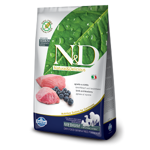 N&D Grain-Free Canine Lamb & Blueberry Adult Medium
