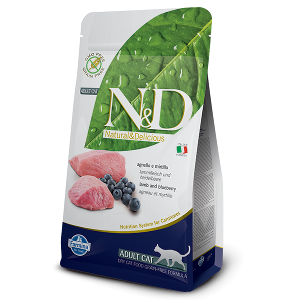 N&D Grain-Free Feline Lamb & Blueberry Adult
