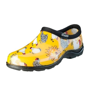 SLOGGERS® Daffodil Yellow Chicken Print Women's Waterproof Comfort Shoes