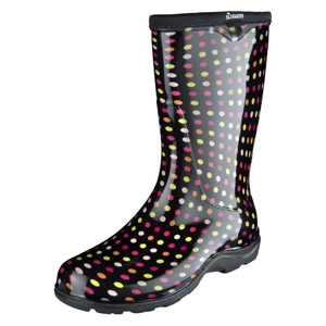 Multicolor Pin Dot Women's Rain and Garden Boot