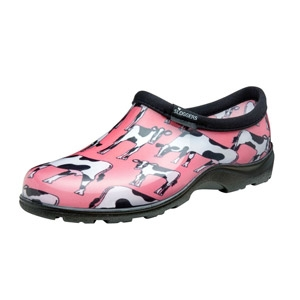 SLOGGERS® Pink Cowabella Print Women's Waterproof Comfort Shoes
