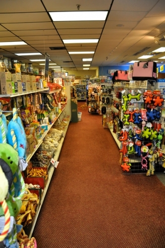 Aisles of pet supplies!