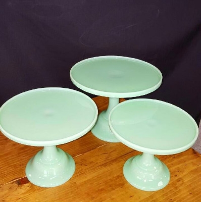 Seafoam Green Colored Cake Stands
