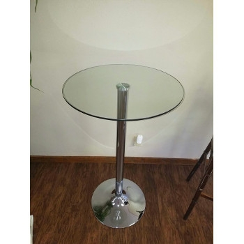 Chrome and Glass Pub Tables