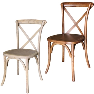 Vineyard Cross Back Wooden Chairs