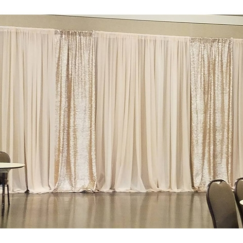 Blush Sheer with Rose Gold Sequin Curtains