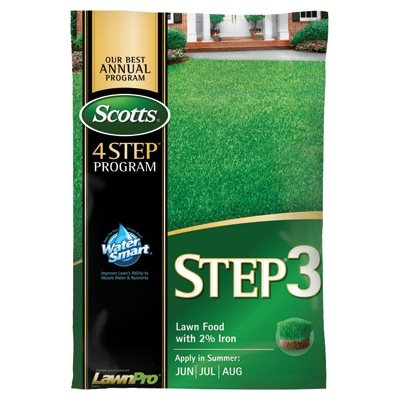 Scotts Lawn Pro Step 3 Lawn Fertilizer With 2% Iron, 32-0-4, 5,000-Sq. Ft. Coverage