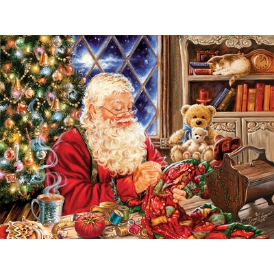 Quilting Santa 1000 Piece Puzzle Set by Sunsout