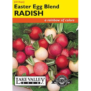 Easter Egg Blend Radish Seeds by Lake Valley Seed
