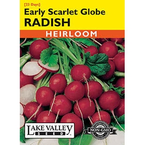 Early Scarlet Globe Heirloom Radish Seeds by Lake Valley Seed