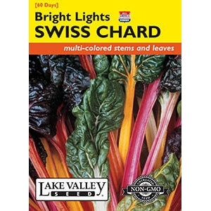 Bright Lights Swiss Chard Seeds by Lake Valley Seed