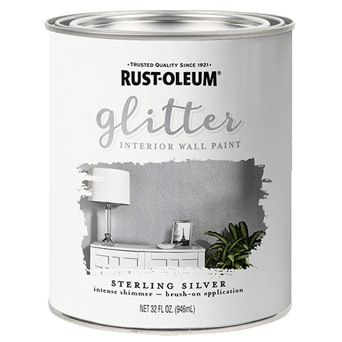 Sterling Silver Glitter Wall Paint