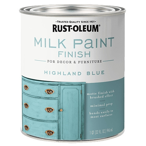 Highland Blue Milk Paint Finish