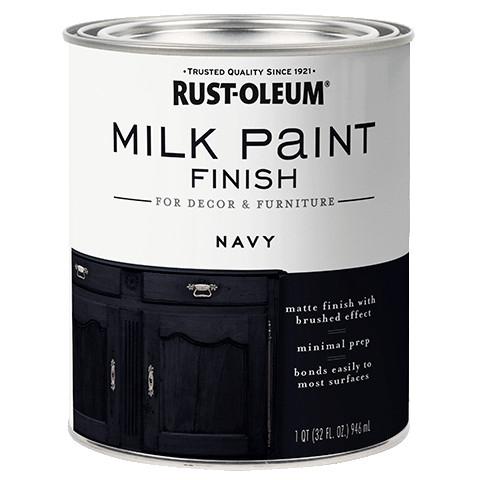 Navy Milk Paint Finish