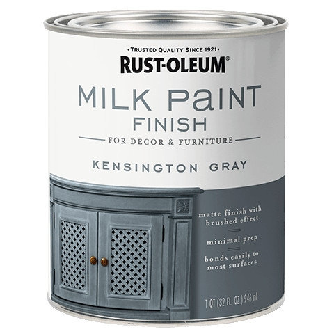 Kensington Gray Milk Paint Finish