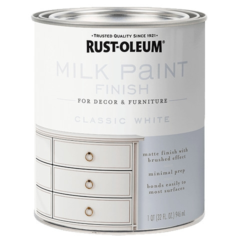 Classic White Milk Paint Finish
