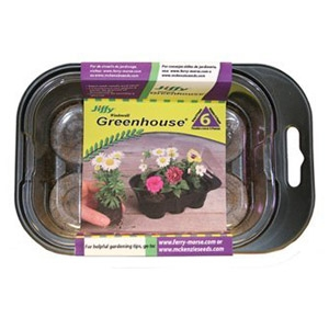 Jiffy® All-In-One 6 Count Mini Greenhouse