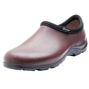 Men's Leather Brown Rain & Garden Shoes