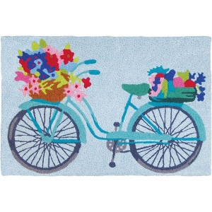 Flower Baskets on Bicycle