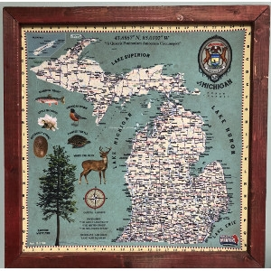 Michigan Map Bandana