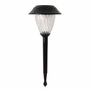 Solar Pathway Lights, Black, 2-Pk.