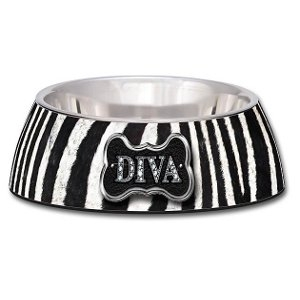 Loving Pet Milano Collection® Dog Bowl – Diva Zebra