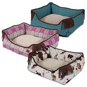MuttNation Lambswool Corner Fringe Printed Lounger