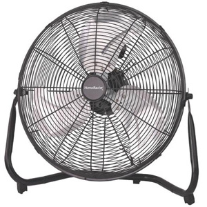Homebasix High Velocity Floor Fan, Black