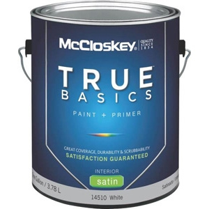 Mccloskey True Basics Latex Paint 1 gal White