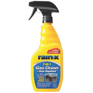 Rain-X 2-In-1 Glass Cleaner With Rain Repellant, 23 Oz, Bottle, Clear, Liquid