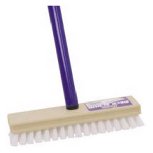 Deck Scrub Brushes, Plastic Bristles