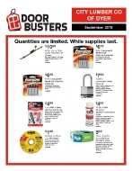 Check out our September Door Busters!