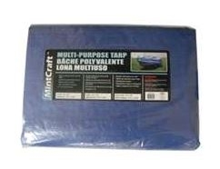 8x10 Medium Duty Blue Tarp