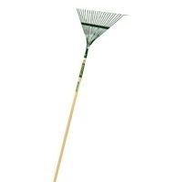 Leaf Rake 22 Tine Wood Handle