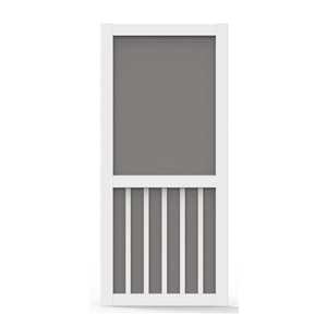 Better Board 36-In. 5-Bar Vinyl Screen Door Low Maintenance