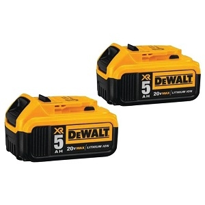 2-Pk. 20 Volt XR Lithium Ion Max 5.0Ah Batteries