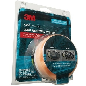 Headlight Lens Restoration Kit, 3 pieces