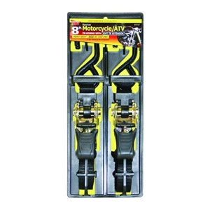 Keeper 2-Pk. 1-In. x 8-Ft. Soft Tie Motorcycle Tie Dow