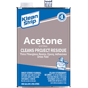 Klean-Strip® Acetone, 1 Gal Metal Can, Clear, Liquid