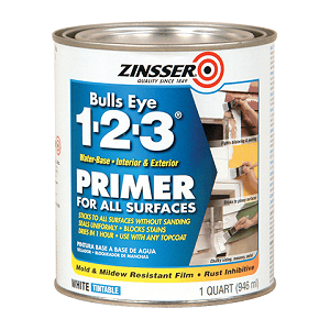 Zinsser® Bulls Eye 1-2-3® Primer Sealer, 1 Qt, Liquid, White Emulsion