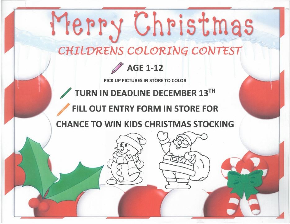 Coloring Contest Flyer