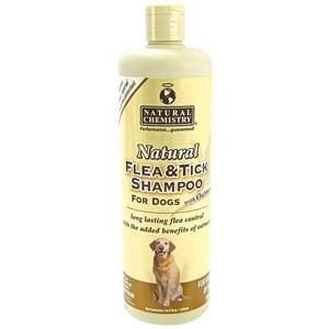 Natural Flea & Tick Shampoo W/Oatmeal 16 Ounce