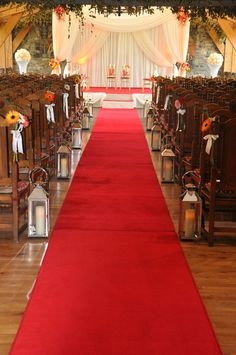 Red Carpet Aisle Runner 25'