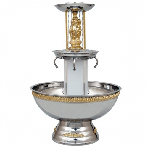 Beverage Fountain 3 Gallon Gold Trim