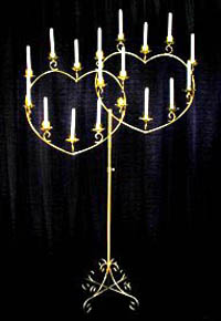 Candelabra 18 Light Double Heart