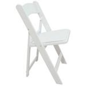 Chair, White Resin Folding